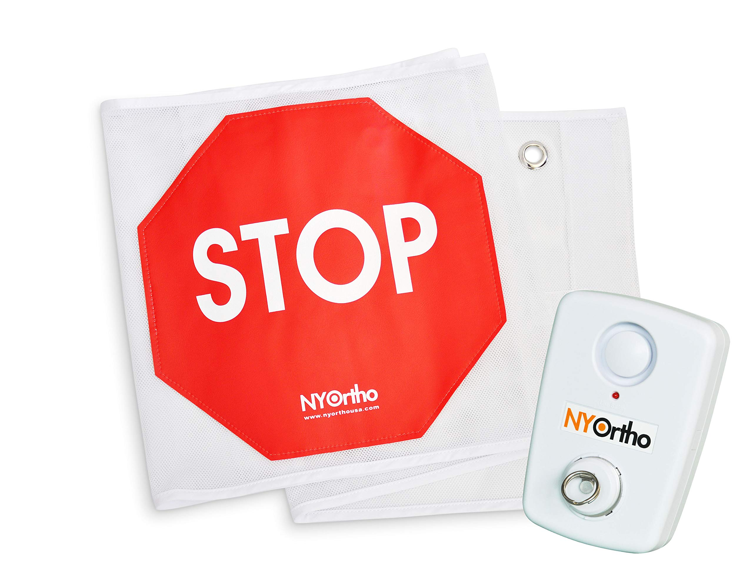 NYOrtho Door Guard Stop Sign Banner | Stop Sign Strip + Alarm | Size: 48'' W by NYOrtho