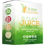 3 Day Juice Cleanse Detox, 24 Powder Packets, Travel and Vegan Friendly, Weight Loss Program, All Natural (3 Day)