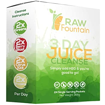 Raw Fountain Detox Powder Packet Juice Cleanse