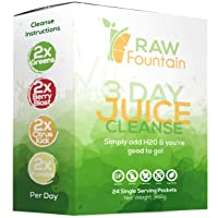 3 Day Juice Cleanse Detox, 24 Powder Packets, Travel & Vegan Friendly, Weight Loss...