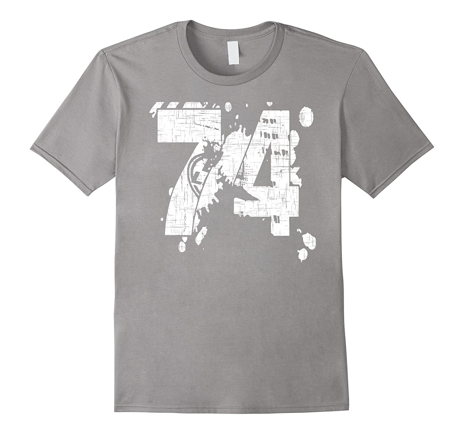 74 Numbered T-Shirt printed front and back in super grunge-PL
