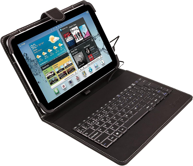 SilverHT -  Funda universal con teclado para tablet de 9'' - 10.1'', color negro