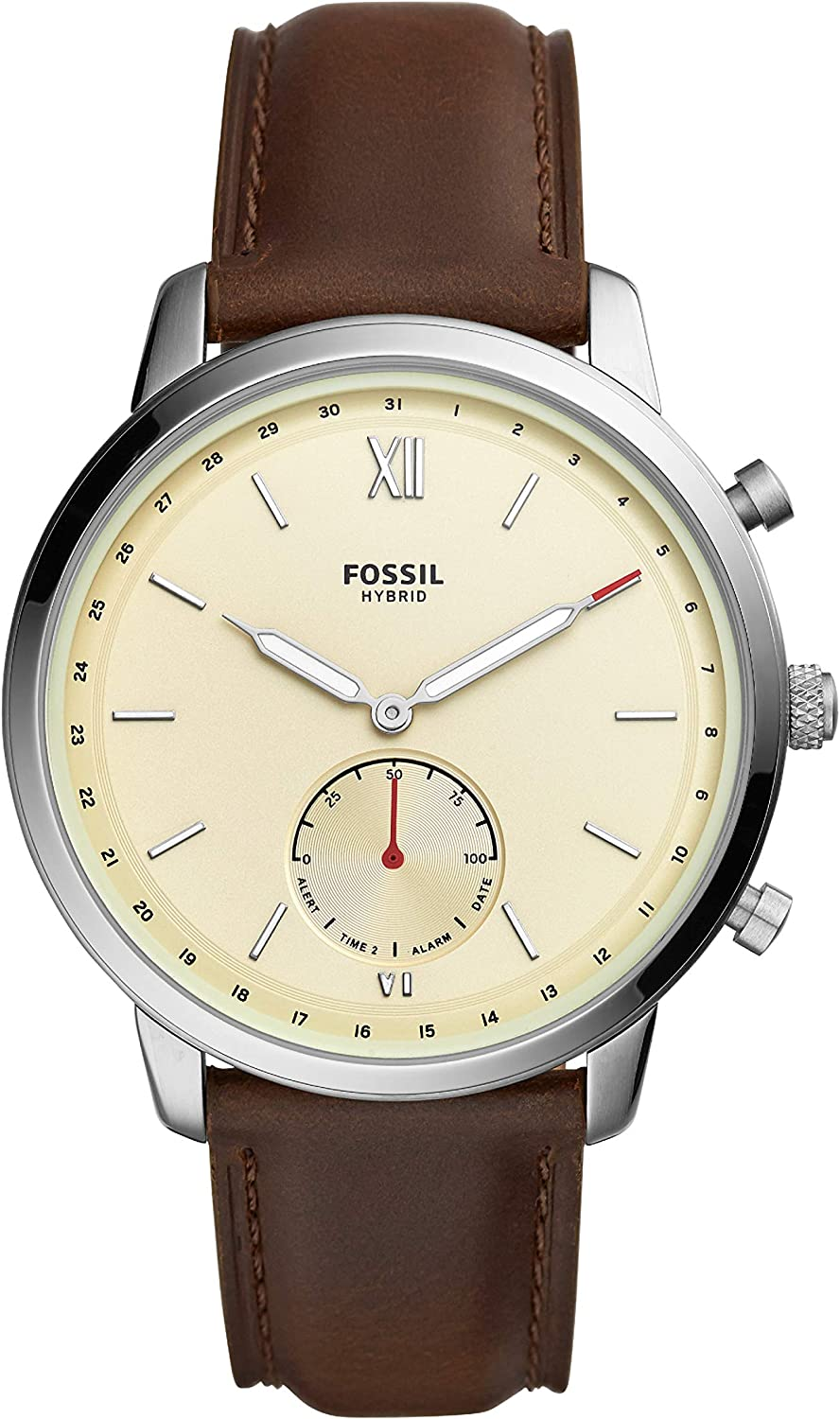 Fossil Men s Neutra Stainless Steel Hybrid Smartwatch with Activity Tracking and Smartphone Notifications