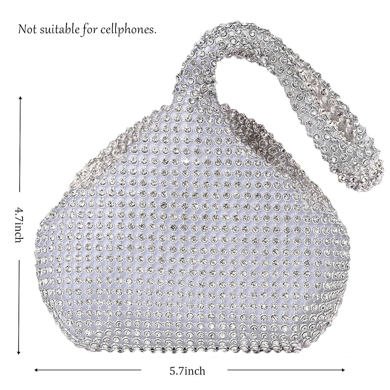BABEYOND 1920s Flapper Handbag Clutch Gatsby Crystal Handbag Roaring 20s Evening Clutch Bag 1920s Gatsby Costume Accessories US-1920shandbag-3-gold