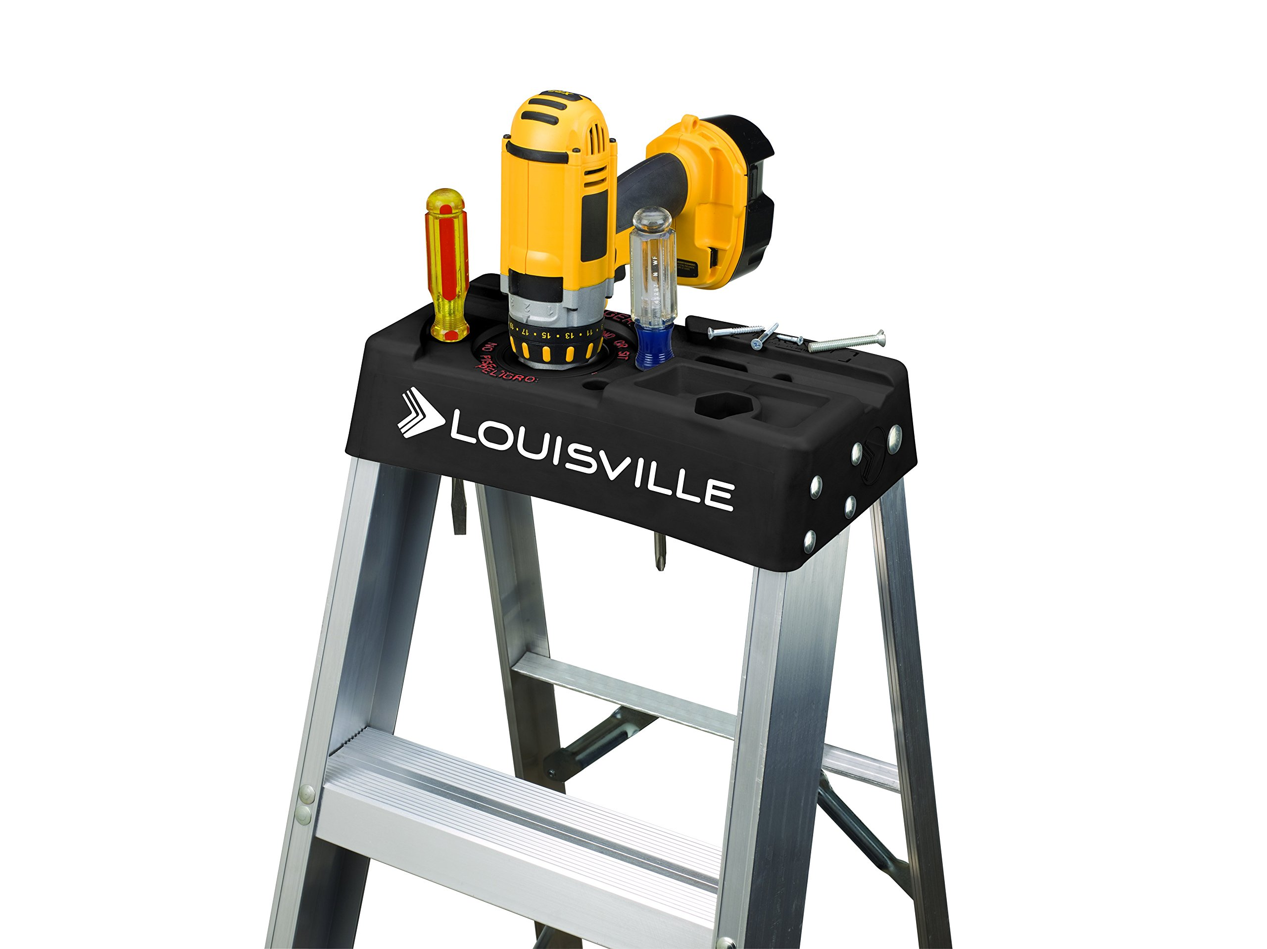 Louisville Ladder AS3008 300-Pound Duty Rating Aluminum Stepladder, 8-Foot