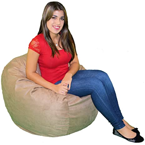 Cozy Sack 2 Feet Kids Foam Bean Bag Chair Small Buckskin