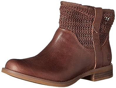 Amazon.com | Timberland Women's Savin Hill Ankle Boot, Dark Brown ...