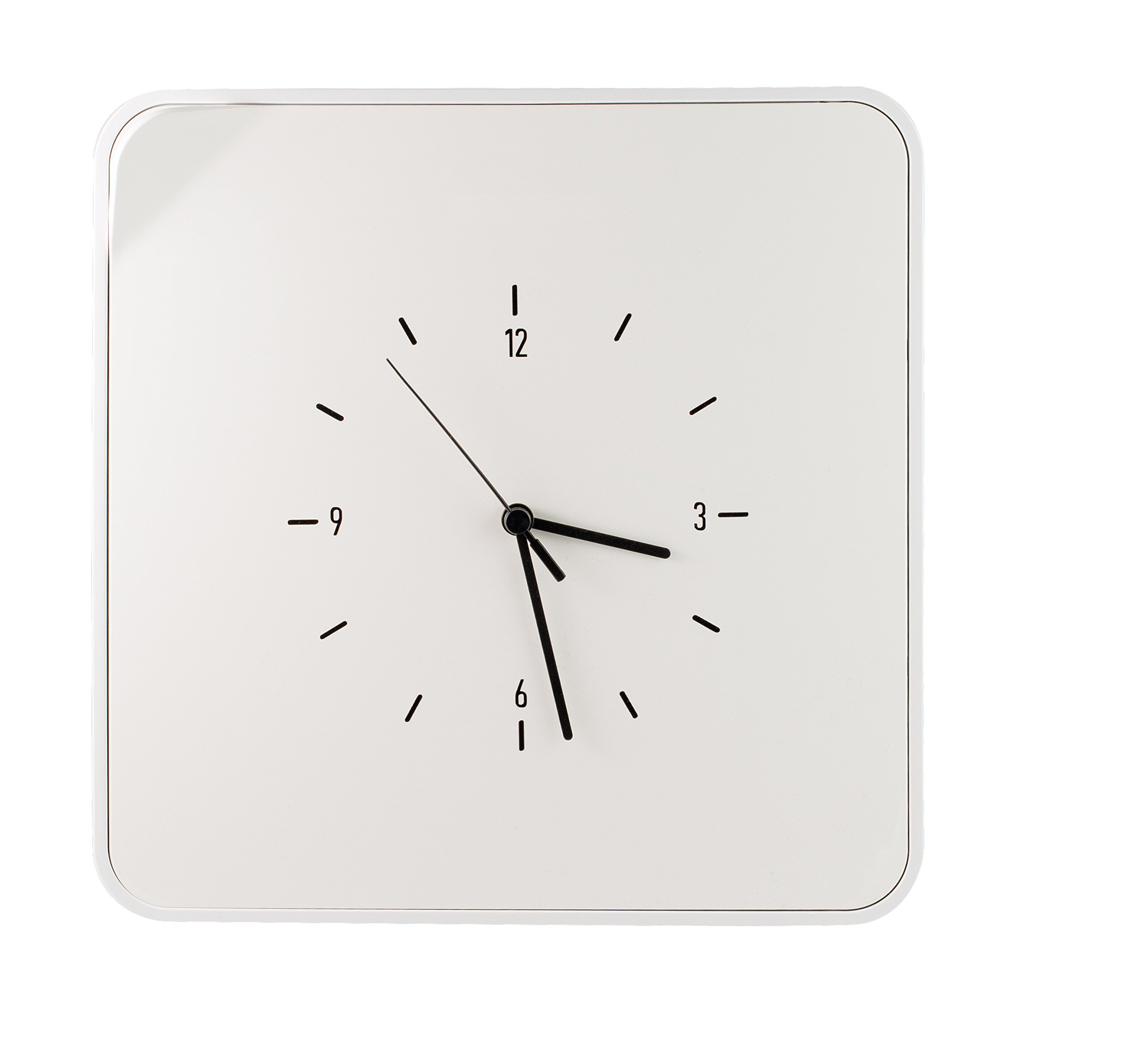 Paperflow MultiBox 12-Key Holder with Clock, 12.6 x 12.6 x 2.4 Inches, White (MTBKHC.13) by Paperflow