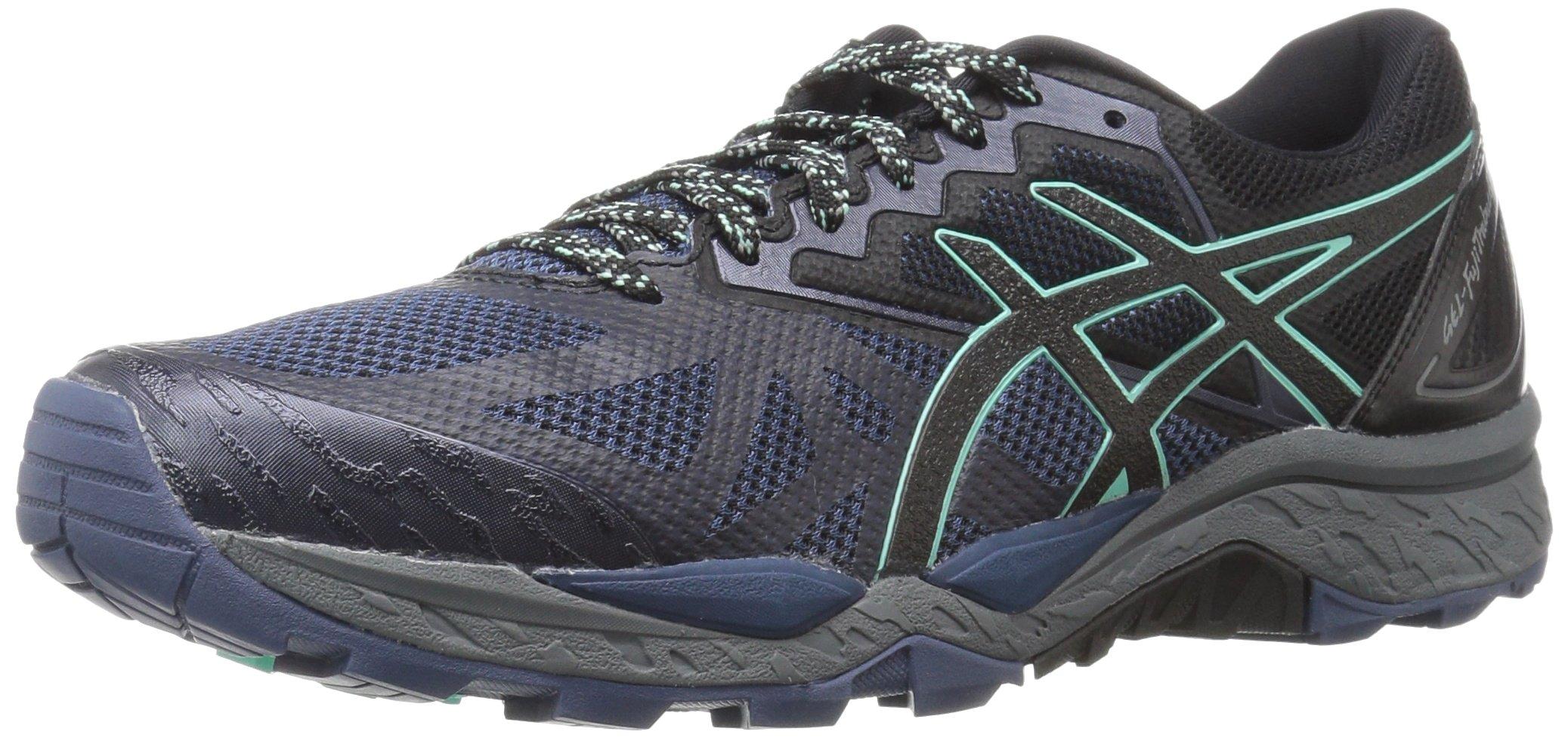 ASICS Women's Gel-Fujitrabuco 6 Running-Shoes, Insignia Blue/Black/Ice Green, 11 Medium US