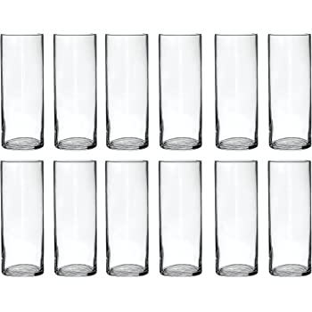 Amazon Treasures Untold Glass Cylinder Vases Bulk Set Of 12