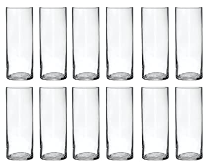 Amazon Treasures Untold Glass Cylinder Vases Bulk Set Of 12
