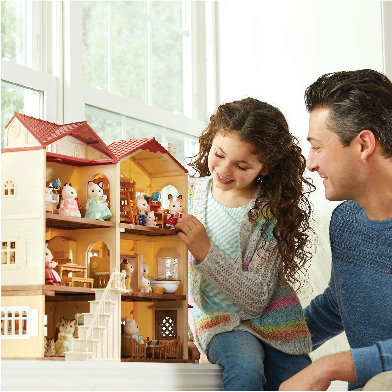 Dolls Dollhouse Figures Collectible Toys Calico Critters Hopscotch Rabbit Grandparents