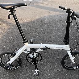 Amazon Amazon Co Jp限定 ルノー Renault 折りたたみ自転車 Ultra Light7 Limited Edition Al Fdb143 ホワイト 14インチ 軽量アルミフレーム 3段変速 ハンドル高さ調整機能搭載 Vブレーキ 112 12 ルノー Renault 折りたたみ自転車