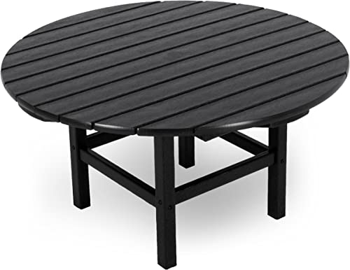 POLYWOOD RCT38BL Round 38 Conversation Table, Black