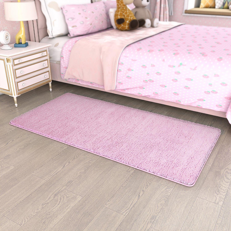 Lifewit 160 X 80 Cm Ultra Soft Chilldren Rug Comfy Bedroom Area Karpet Shaggy Premium 160x230 Turkiye Runner Rugs Fluffy Living Room Carpet Thick Shag Machine Washable Pink For Kids