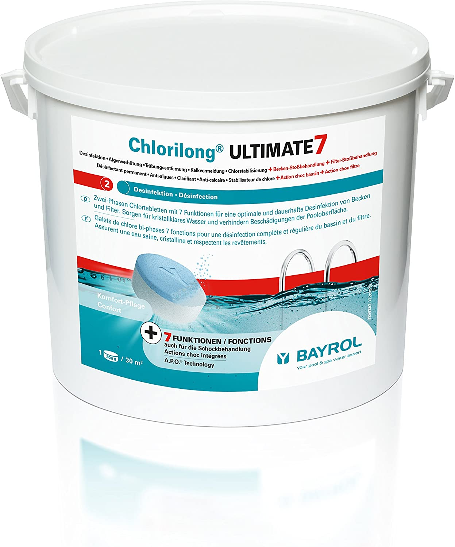 Bayrol Chlorilong Ultimate 7-10,2 kg Pastillas de Cloro, Blanco