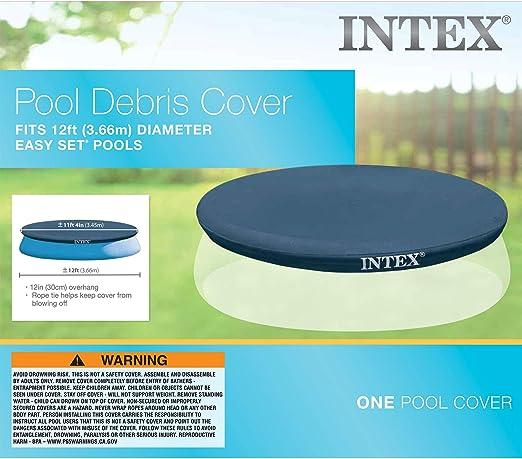 Intex 28022 - Cobertor piscina hinchable Easy Set 366 cm: Amazon ...