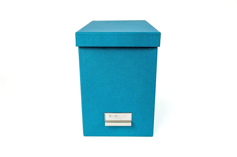Bigso John Desktop File Storage Box, Turquoise 954156644