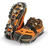 IPSXP Crampones, 19 Dientes Tacos de tracción Nieve y Hielo Tracción para Invierno Deportes Montañismo Escalada Caminar…