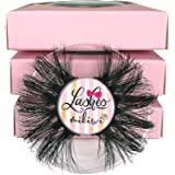 Mikiwi 3 Pairs Lashes E01-3, 25mm Mink Lashes, 3D Mink Lashes, Thick HandMade Full Strip Lashes, Cruelty Free Luxury Makeup,