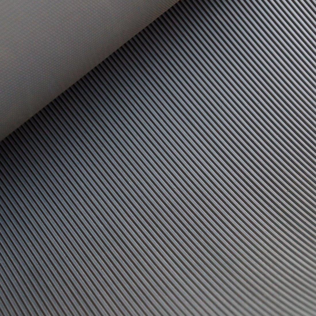 Gr/ö/ße + Farbe w/ählbar 4m/² 1,0 x 4,0m St/ärke: 3mm Farbe: Dunkelgrau Feinriefenmatte