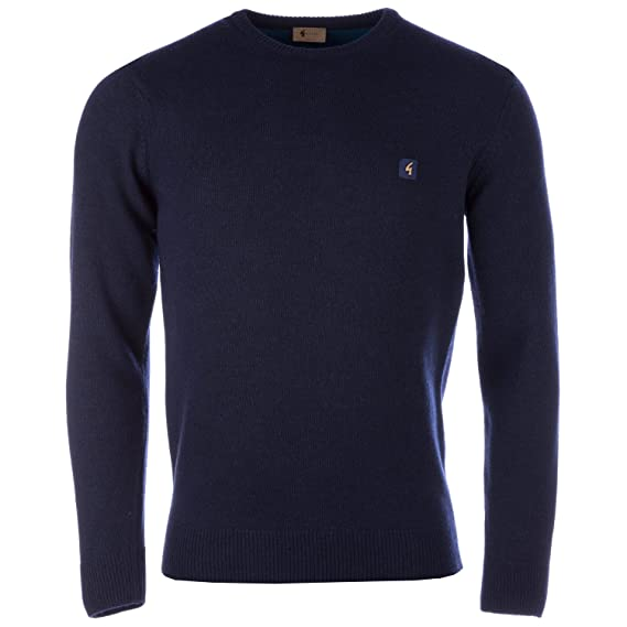55a244fff31557 Gabicci Vintage Mens Lambswool Crew Neck Knit in Navy - S: Gabicci Vintage:  Amazon.co.uk: Clothing