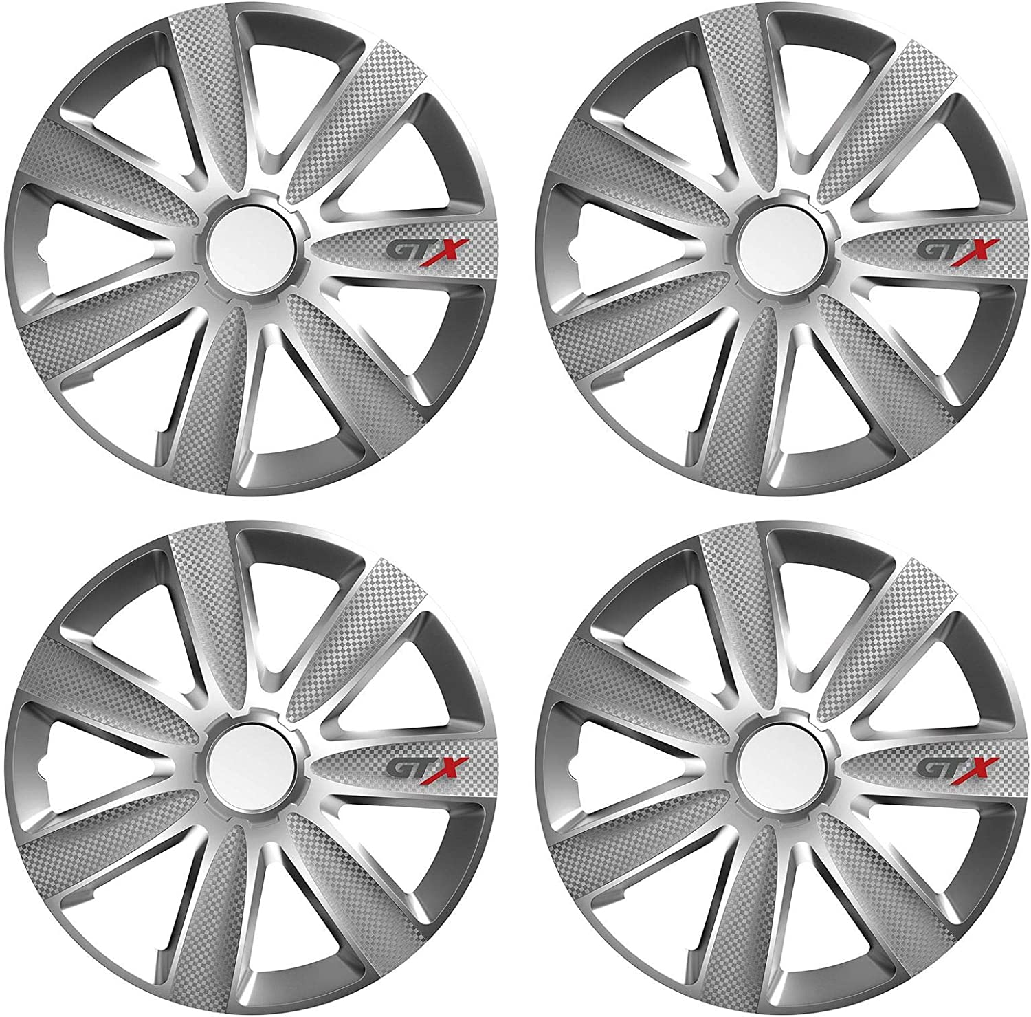 UKB4C 4 x GTX Wheel Trims Hub Caps 15 Covers fits Honda Jazz Civic Accord