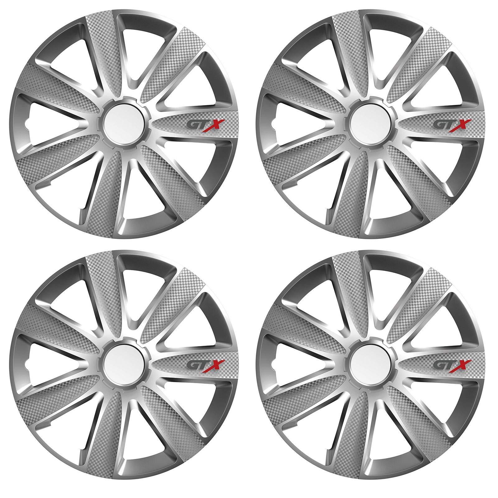 UKB4C 4x Wheel Trims Hub Caps 14 Covers fits Honda Jazz Civic Accord in Silver