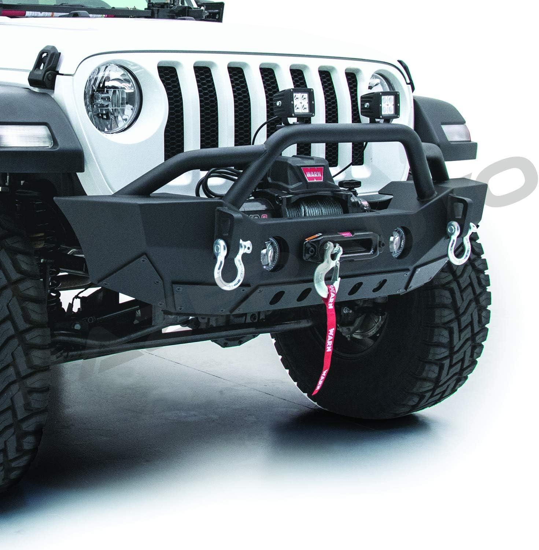 Black Rock Crawler Stubby Front Bumper W//Fog Light Hole fit 07-18 Jeep Wrangler