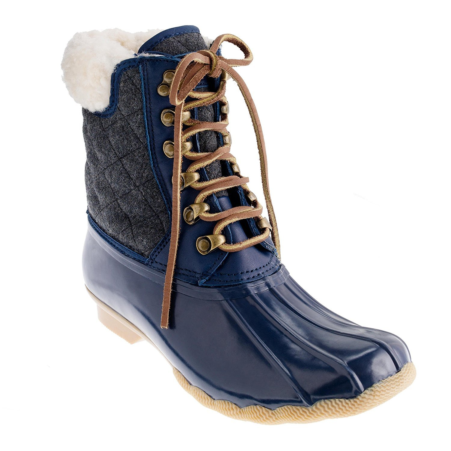 Sperry Top-Sider Women's Shearwater Rain Boot (8 B(M) US, Navy/Charcoal)