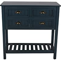 Deals on Decor Therapy Bailey Bead Board 4-Drawer Console Table