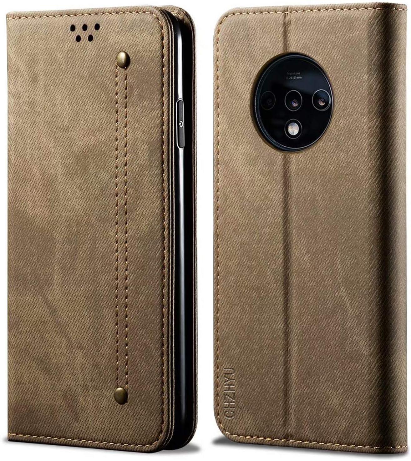 Blau Standfunktion CHZHYU Handyh/ülle f/ür OnePlus 7T-6.55,Premium Leder Flip Doppelte Schutzh/ülle Case Cover f/ür OnePlus 7T-6.55 Magnetverschluss Kartenf/ächer
