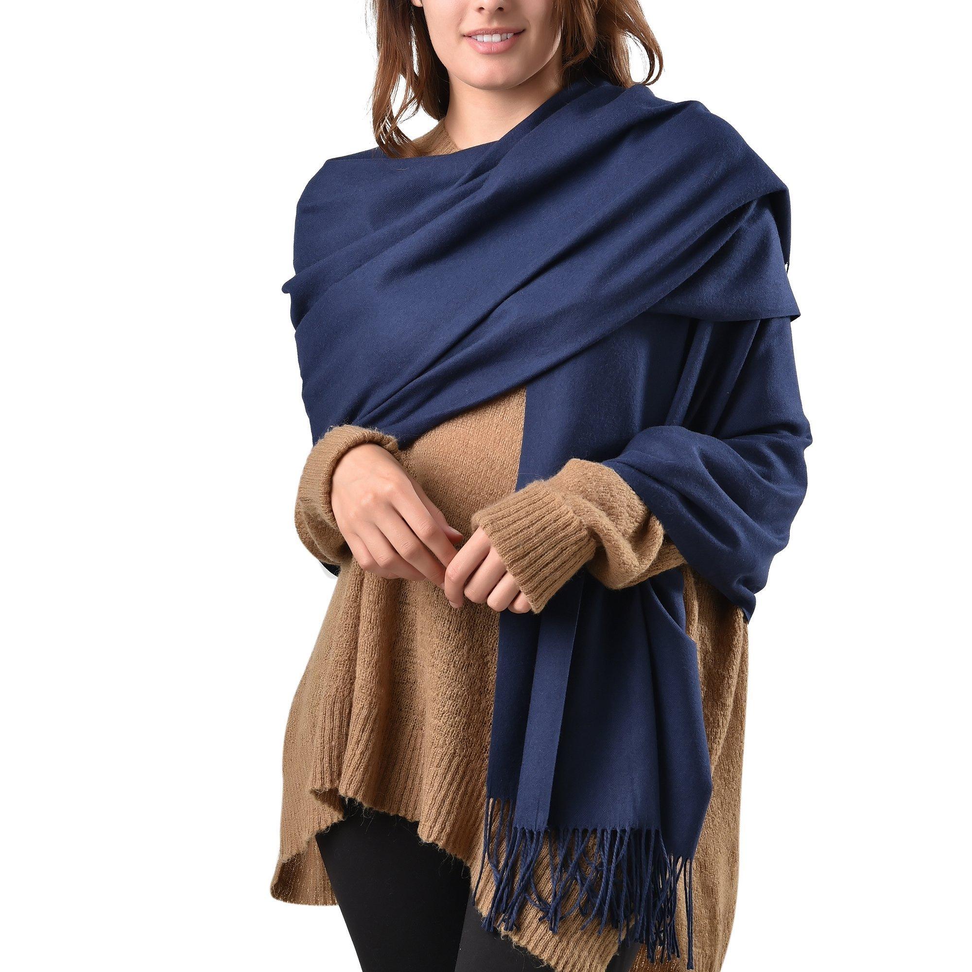 Womens Large Soft Pashmina Shawl Wraps Scarf Stole for Wedding Evening Party