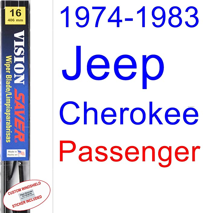 Amazon.com: 1974-1983 Jeep Cherokee Wiper Blade (Driver) (Saver Automotive Products-Vision Saver) (1975,1976,1977,1978,1979,1980,1981,1982): Automotive