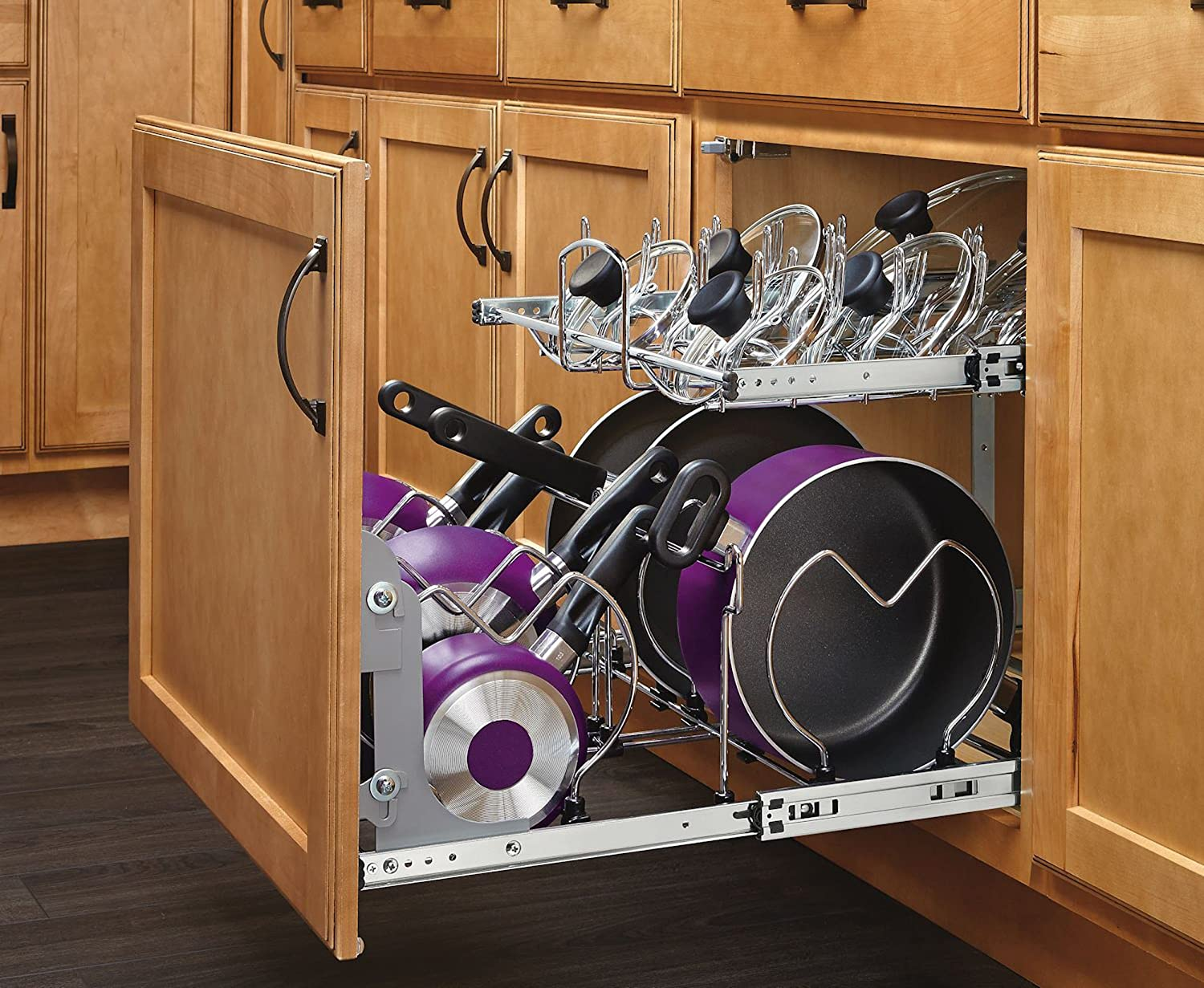 Kitchen Storage For Pots And Pans Amazoncom Rev A Shelf 5cw2 2122 Cr 21 In Pull Out 2 Tier