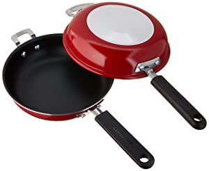 Cuisinart FP2-24R Frittata Non-Stick Sauce Pan, 10-Inch, Red