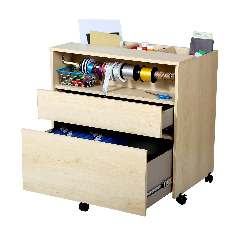 Amazon.com: South Shore Crea Craft Storage Cabinet on Wheels, Natural Maple - Amazon.com: South Shore Crea Craft Storage Cabinet On Wheels