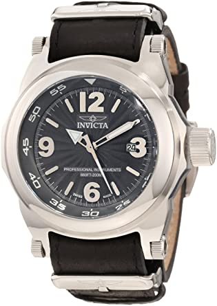 Invicta Men's 10515 I-Force Grey Textured Dial Black Leather Watch