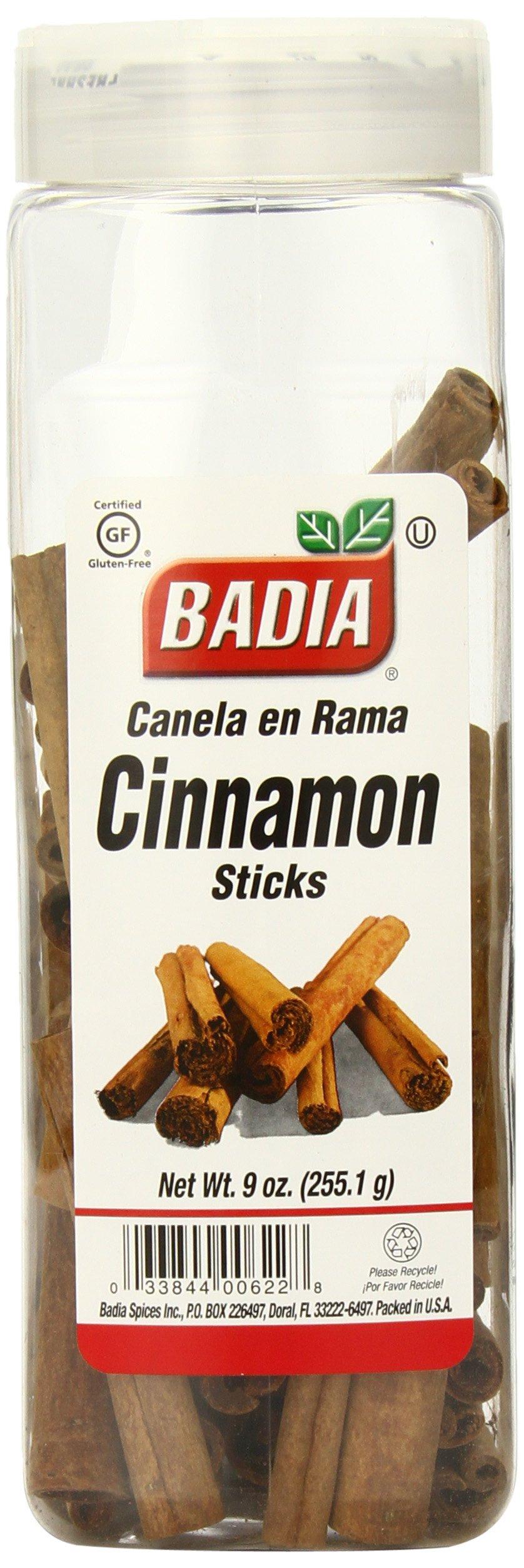 Badia Cinnamon Sticks, 9 Ounce (Pack of 6)