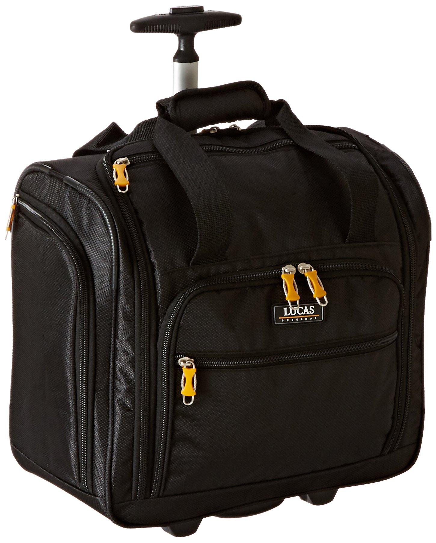 LUCAS 16'' Wheeled Underseat Cabin Bag (16inch, Black) by LUCAS