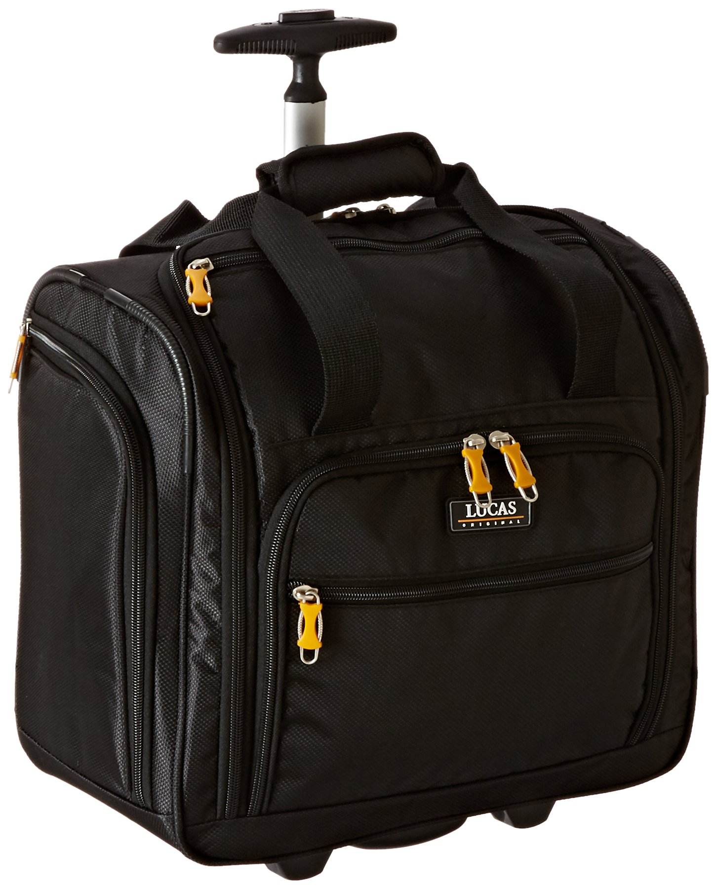 LUCAS 16'' Wheeled Underseat Cabin Bag (16inch, Black)