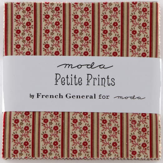 Petite Prints Moda Charm Pack By French General; 42 - 5 Quilt ...