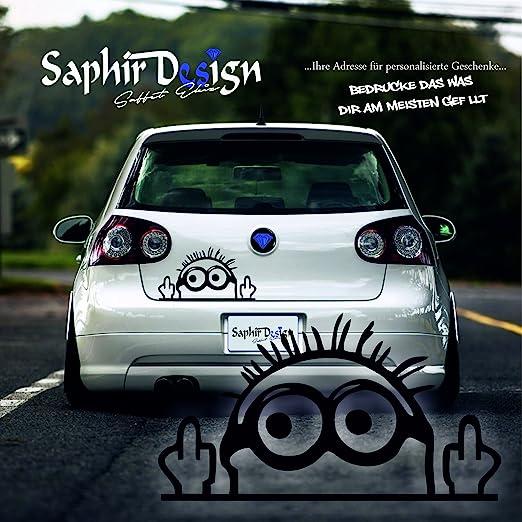 Saphir Design Cooler Minion Middle Finger Minion Sticker Tuning Car Sticker A111 8 X 15 Cm High Performance Film In White Küche Haushalt