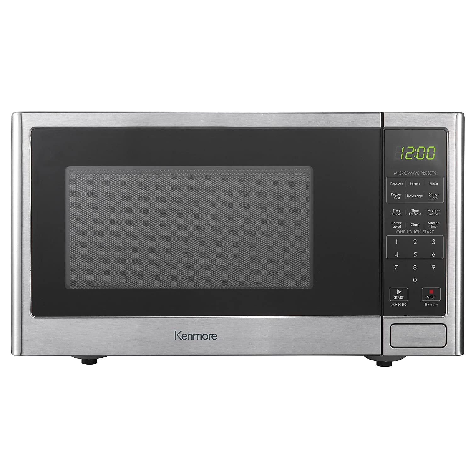 Amazon.com: Kenmore 0.9 cu. ft. Countertop Microwave Oven - Stainless  Steel: Kitchen & Dining