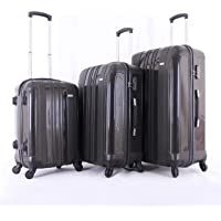 Giordano Luggage Trolley Bags Set Of 3 Pieces, Brown - HGP\ 051