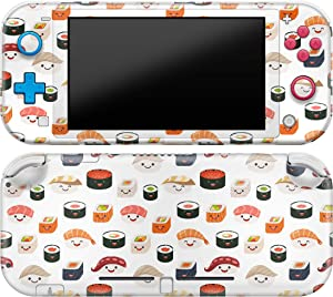 Cavka Vinyl Decal Skin Compatible with Console Switch Lite (2019) Stickers with Design Sushi Pattern Protector Durable Wrap Food Cover Full Set Print Fish Rice Protection Cute Kawaii Faceplate Girl