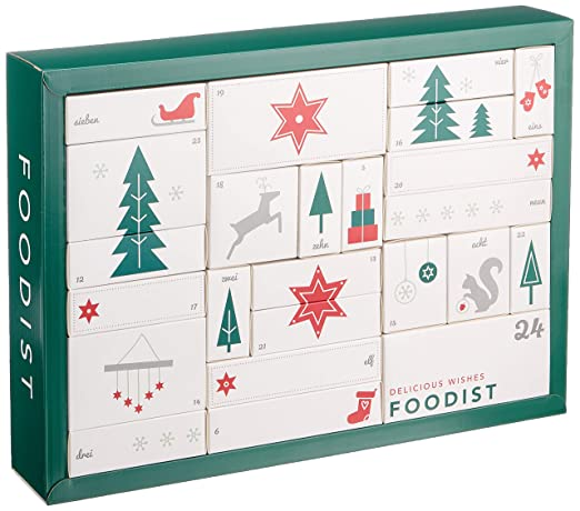Foodist Weihnachtskalender.Foodist Gourmet Adventskalender Mit 24 Außergewöhnlichen Süßigkeiten Snacks Und Delikatessen Weihnachtskalender