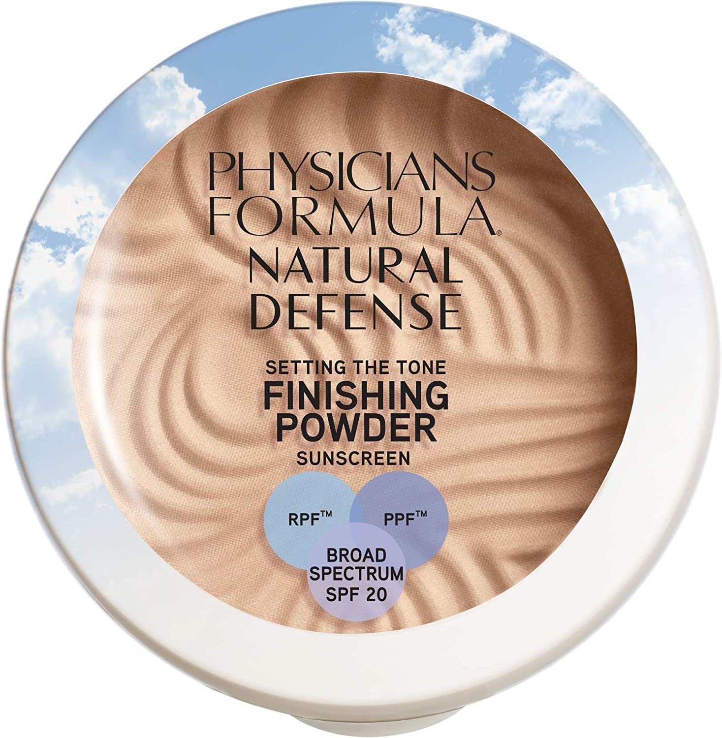 Physicians Formula Natural Defense Setting the Tone Finishing Powder SPF 20, Fair, 0.35 Ounce
