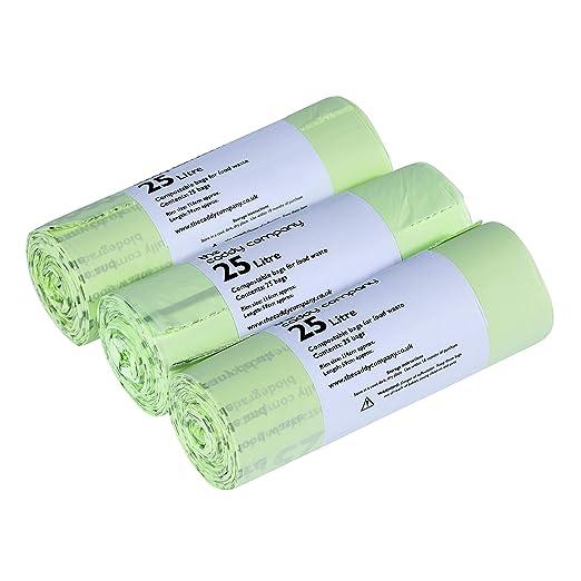 75 bolsas de basura de 25 litros 100% biodegradables ...