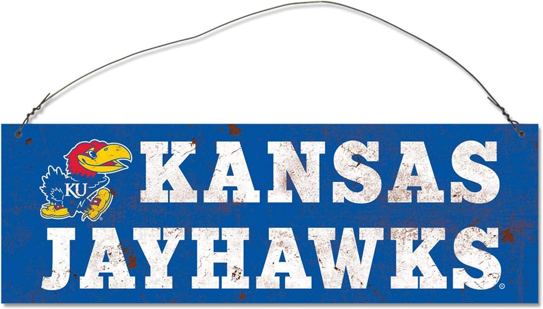 Stock NCAA Legacy Kansas Jayhawks Rectangle Tin Sign One Size